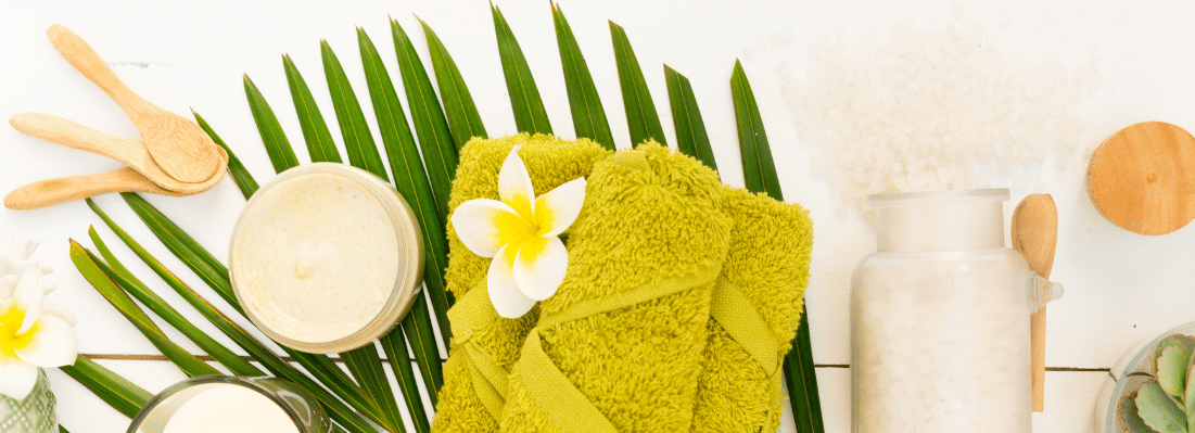 green washcloths and products - Green Beauty Expert
