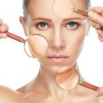 woman skin close up